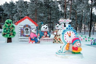 Снежные скульптуры  для детского сада 183